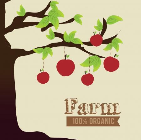 beige stof: ontwerp van de boerderij over beige achtergrond vector illustratie