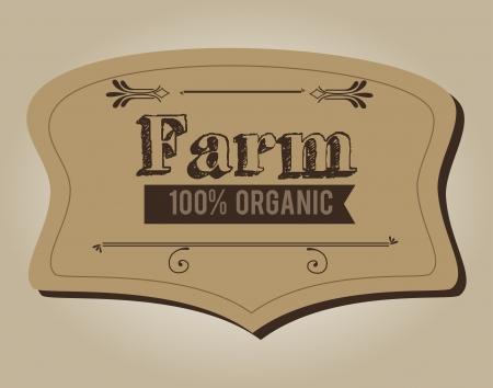 fresh produce: farm design over  beige  background vector illustration