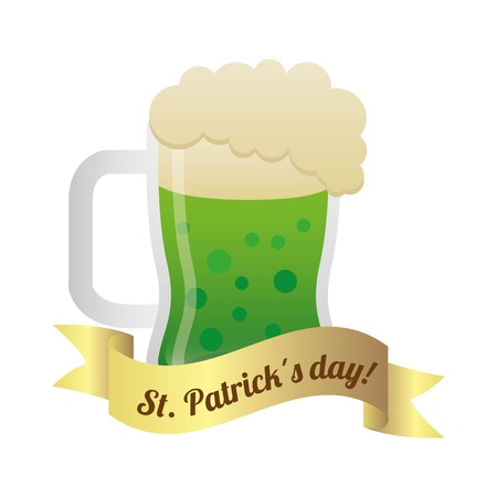 saint patrick day over white background vector illustration Vector