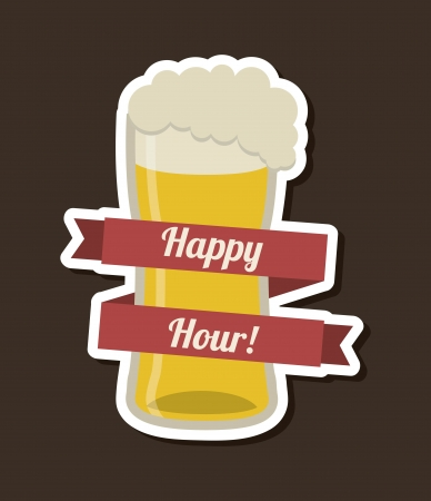 beer design over black  background vector illustration   Vector