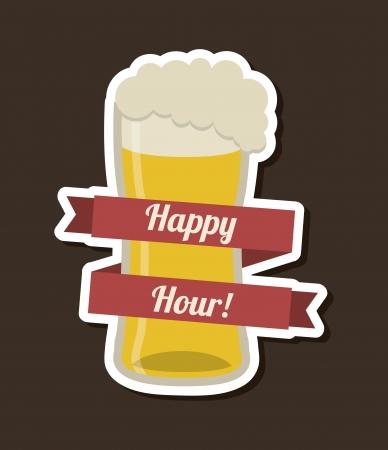beer design over black  background vector illustration   Vector