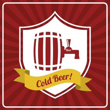beer design over  red  background vector illustration   Vector