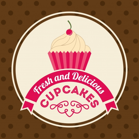 bakery design over dotted background vector illustration   Vector