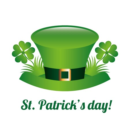 saint patrick day over white background vector illustration Vector