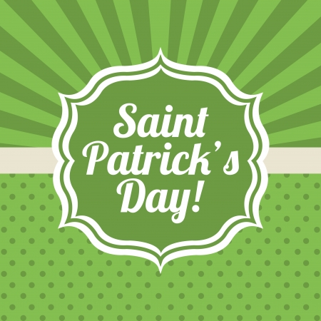 saint patrick day over green background vector illustration Vector