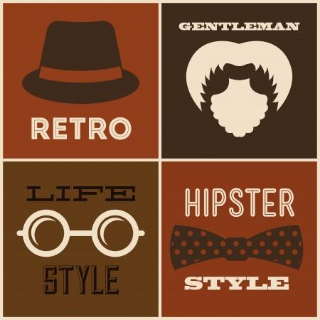 hipster design over  brown background vector  illustration   Vector