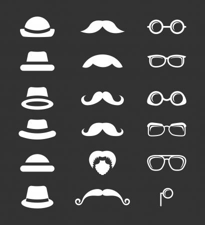 hipster design over black  background vector  illustration   Vector