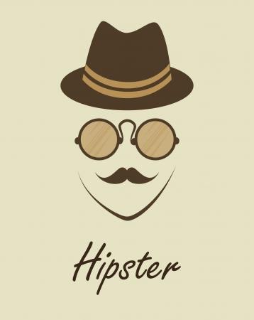 hipster design over beige  background vector  illustration   Vector