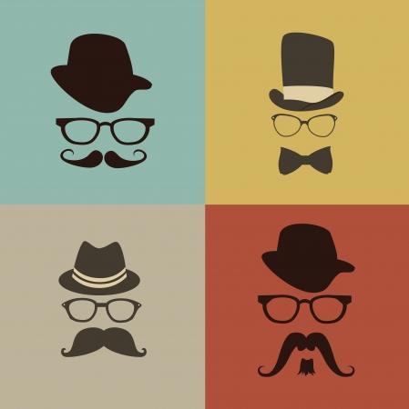 funny: hipster design over  colors  background vector  illustration   Illustration