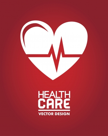 community service: medical dsign over  red background vector illustration