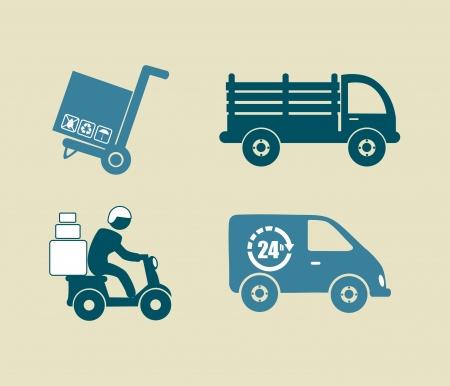 article marketing: delivery design over beige background vector illustration Illustration