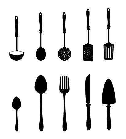 kitchen design over white background vector illustration