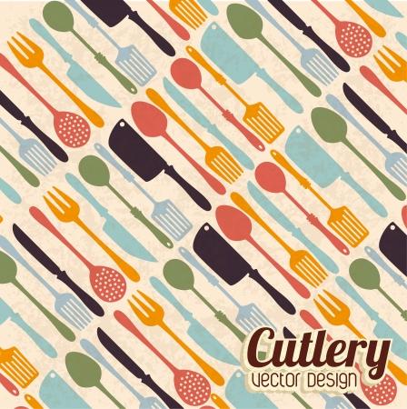kitchen design over pink  background vector illustration Vector