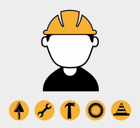 industrial workers over white background vector illustration Vector