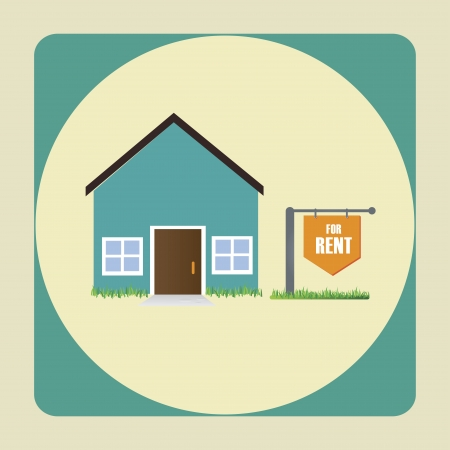 real estate over beige background vector illustration  Vector