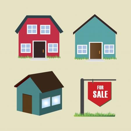 real estate over beige  background vector illustration Banco de Imagens - 25449598