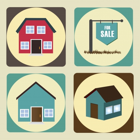 real estate over beige  background vector illustration  Vector