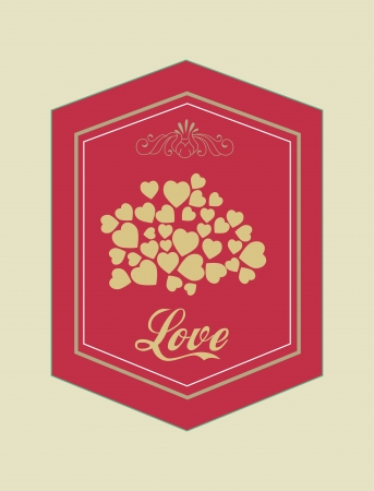 love design over  beige background vector illustration   Vector
