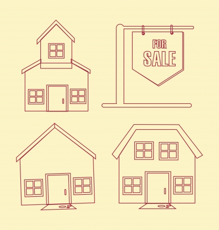 real estate over cream background vector illustration  Vector
