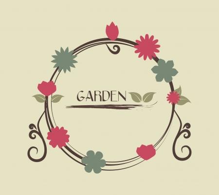 obituary: flowers design over beige background vector illustration   Illustration