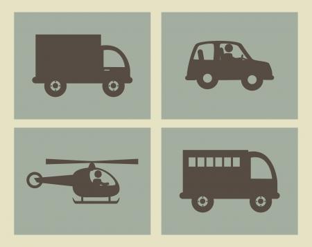 Conception de transport sur fond beige illustration vectorielle Banque d'images - 25449684