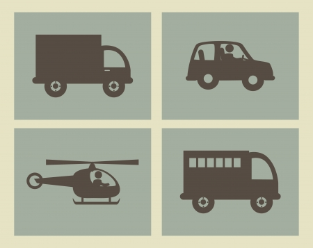 transport design over beige background vector illustration