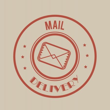 enveloped: delivery design over gray background vector illustration