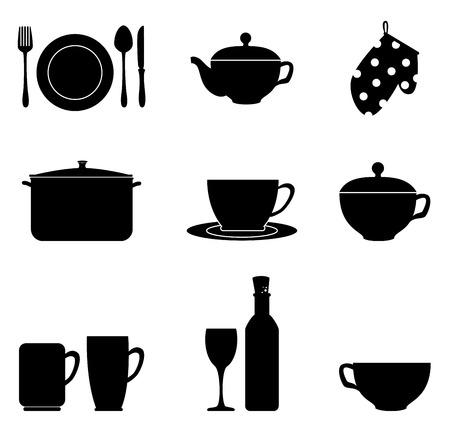 kitchen design over white background vector illustration Vector