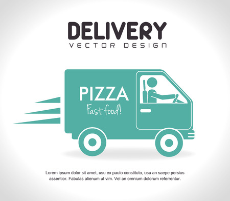 article marketing: delivery design over gray  background vector illustration