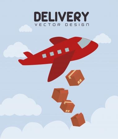 delivery design over sky background vector illustration