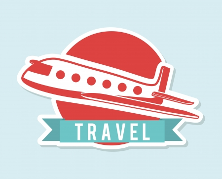 travel design over blue background vector illustration Vector