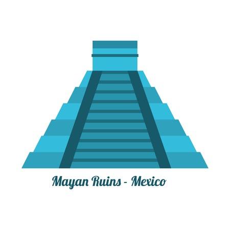 mayas: travel design over white  background vector illustration Illustration