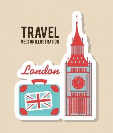 travel design over beige background vector illustration Vector