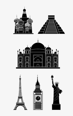conception de Voyage sur fond blanc illustration vectorielle