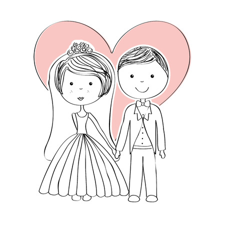 wedding design over  white background vector illustration Vector