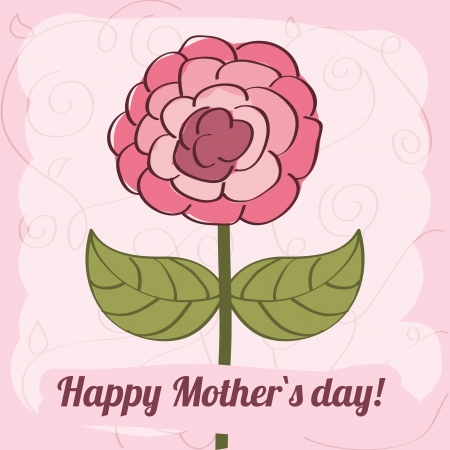 happy mothers day pink over background vector illustration   Vector