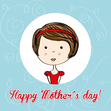 felicity: happy mothers day over blue background vector illustration