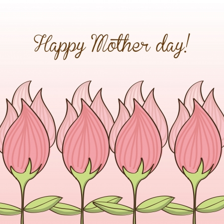 happy mothers day over pink background vector illustration   Vector