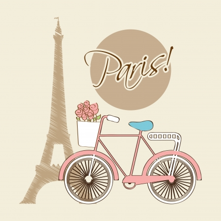 bicycle design over beige  background vector illustration