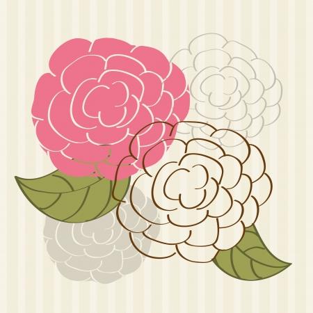flowers design over lineal background vector illustration   Vector