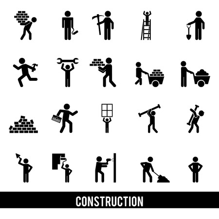 construction design over white background vector illustration  Vector