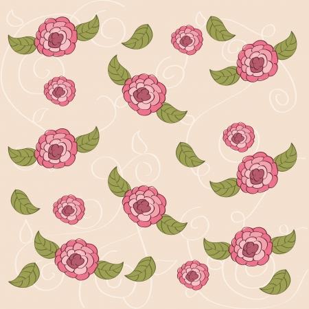 flowers design over pink background vector illustration   Vector