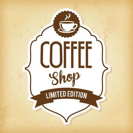 coffee design over vintage   background vector illustration  Vector