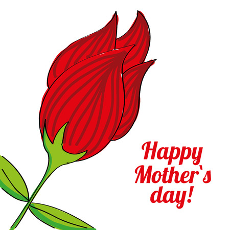 happy mothers day over white background vector illustration   Vector