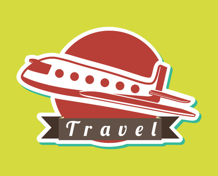 travel design over green background vector illustration Vector