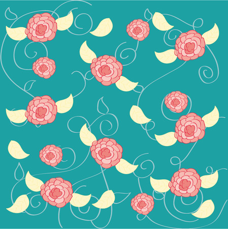 flowers design over  blue background vector illustration   Vector
