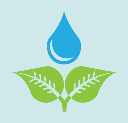 water design over  blue background vector illustration Illustration