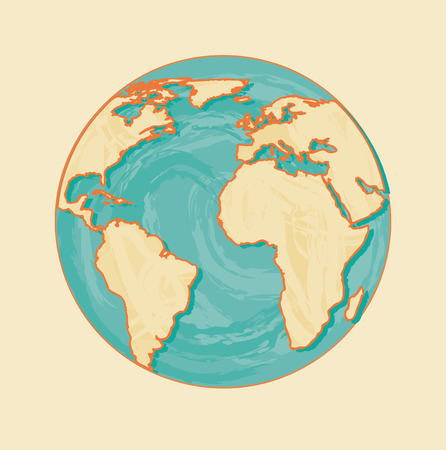 zeměpisný: geografický konstrukce nad růžové pozadí vektorové ilustrace Ilustrace