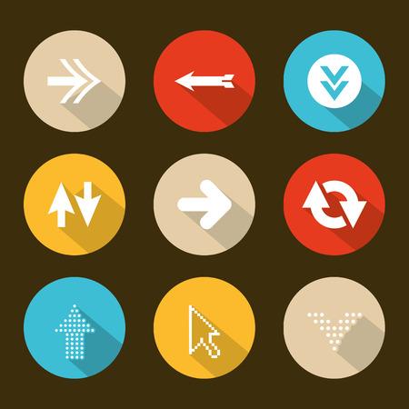 top pointer: arrows design over  brown background vector illustration Illustration