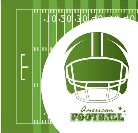 american football design over green  background vector illustration   Vector